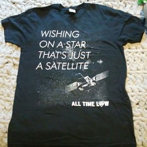 Hot Topic All Time Low Satellite Tee Size L